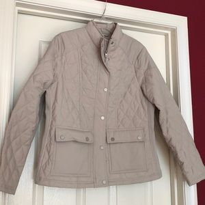 Tan quilted jacket